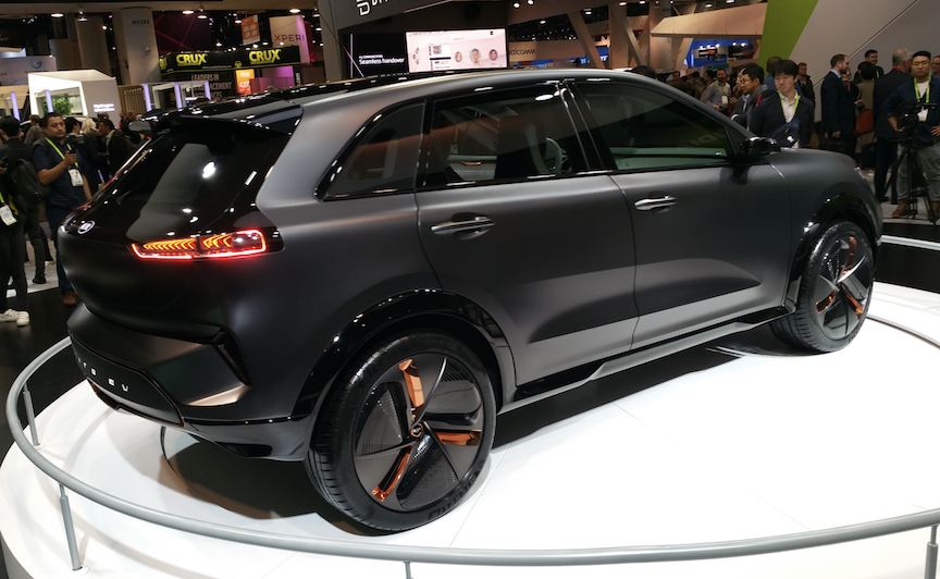 Kia introduced its Niro Electric Car during CES 2018.