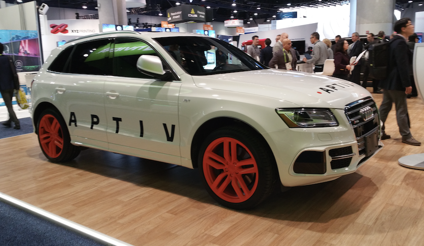 Aptiv has partnered with Audi to develop autonomous vehicle driving systems.