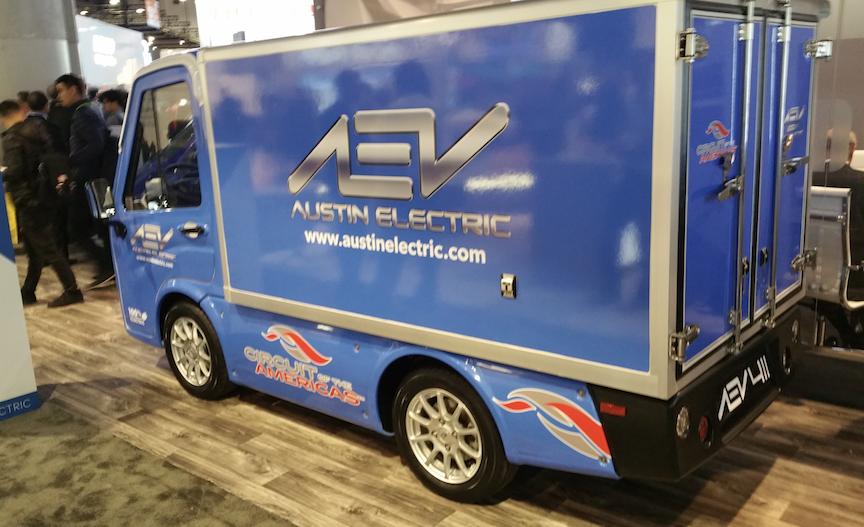 Austin EV electric utility truck