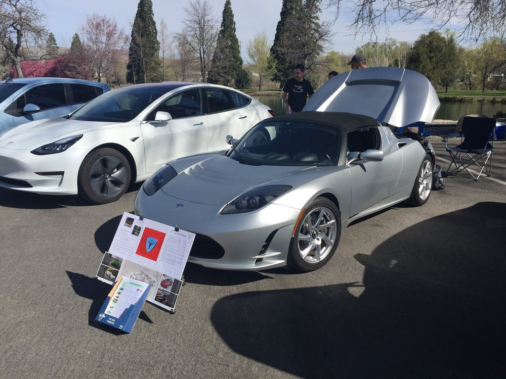 We want to thank Bob and LeeAnn Marsh for bringing the Tesla Roadster ( a Proof of Concept car) up from the Minden-Garderville area. It draws folks in to gawk, but they stay to see the other cars. And, thanks for the amazing pumpkin chocolate chip cookies, LeeAnn!