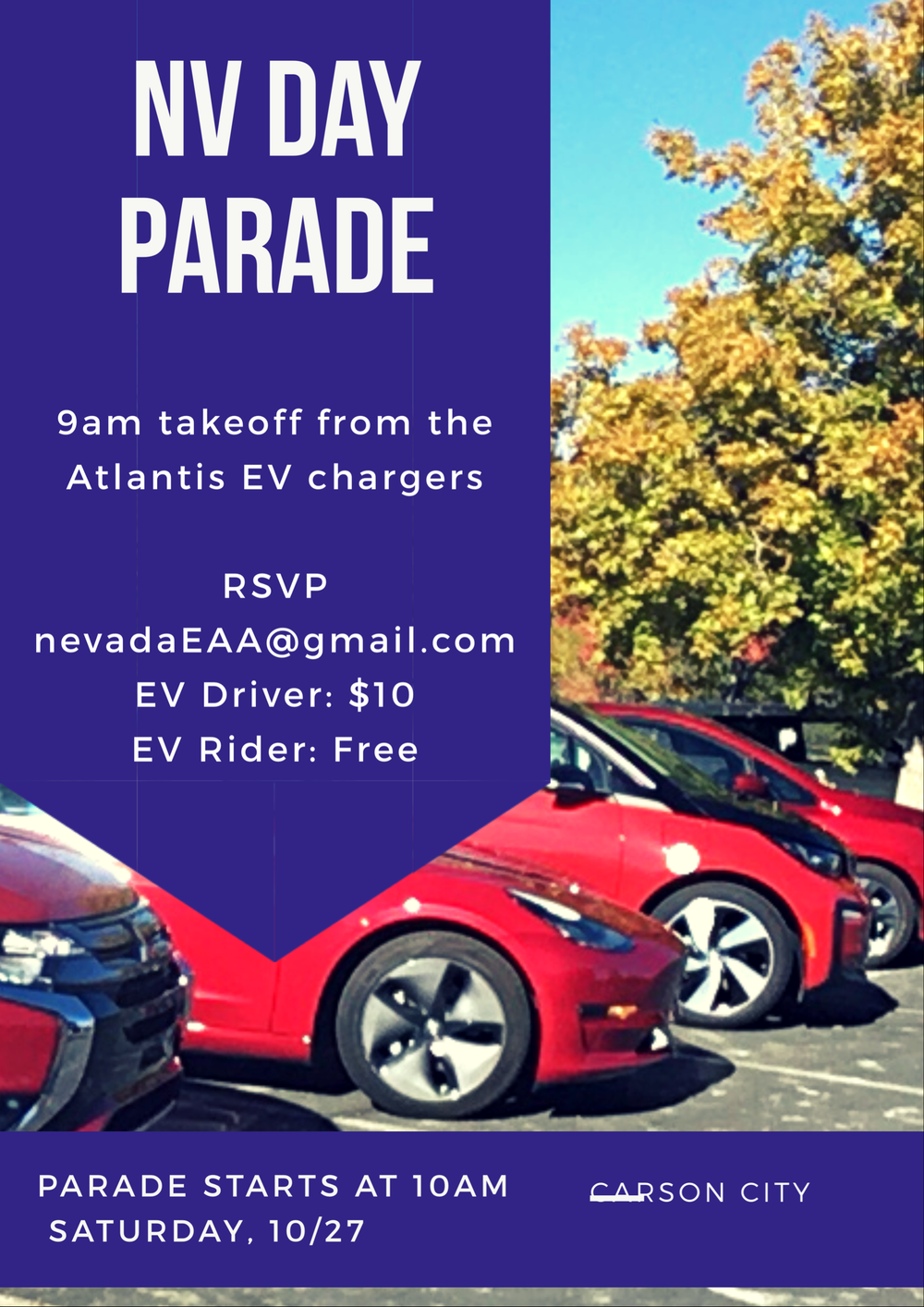 We hosted a fleet of electric vehicles for the Nevada Day parade in Carson City on 10-27-18! - We raced each other in the parade. It was awesome!