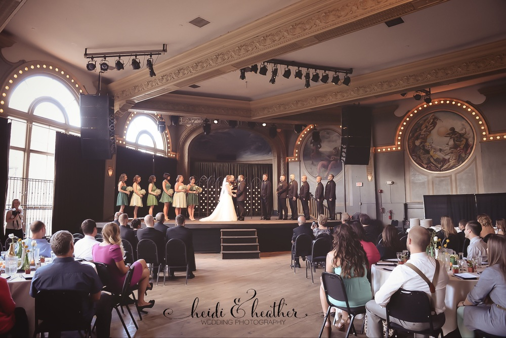 "McMenamins  Crystal Ballroom  in Portland sets a dramatic scene for an elegant wedding.  And how amazing would it be to say your ""I Do's"" like a rock star on stage?"
