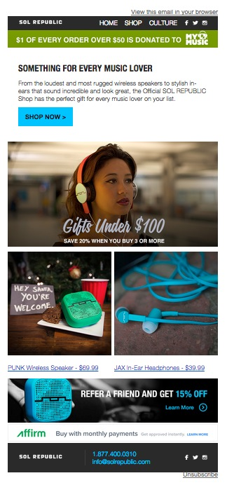 Holiday Gift Guide Email