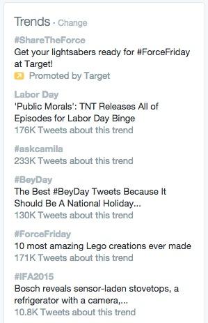 twitter trends