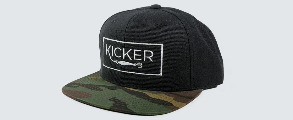 5444d3792266a Box Canyon Snapback - Black Camo — Kicker Fishing Brand