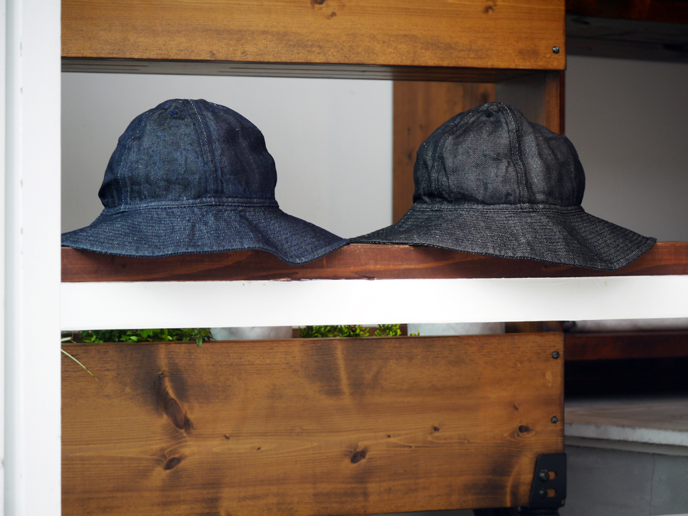 COMESANDGOES LINEN DENIM BALLON HAT