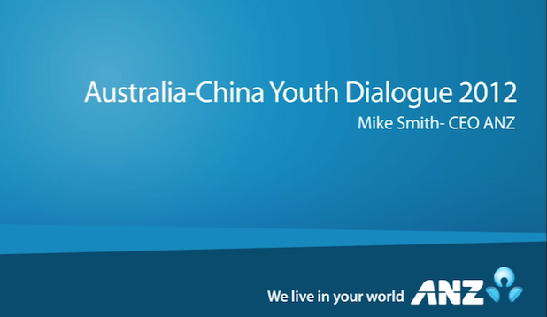Mike Smith (ANZ Special Address)
