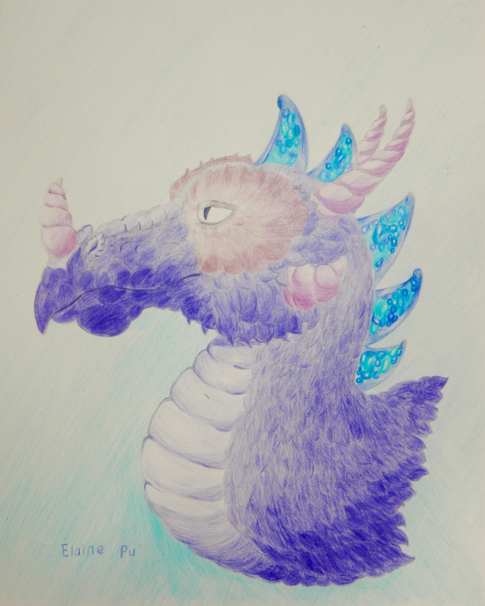 Elaine Pu.12yrs.Dragon.colored pencils.6/15
