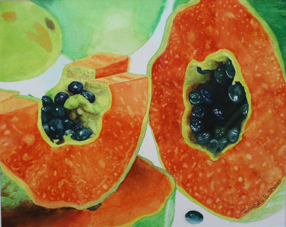 Isabelle Stanley'Papaya'watercolor.16yrs
