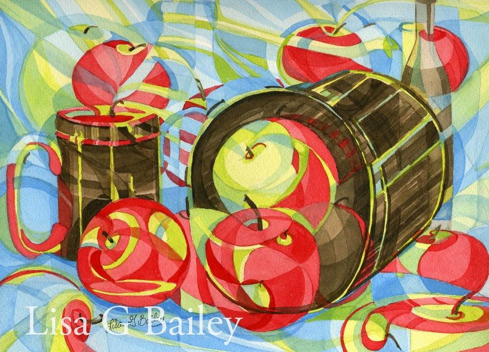 Apple Cider (Colorweave watercolor)