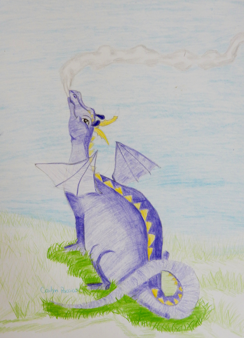 Cailyn Paccico.10yrs.Dragon.coloredpencils