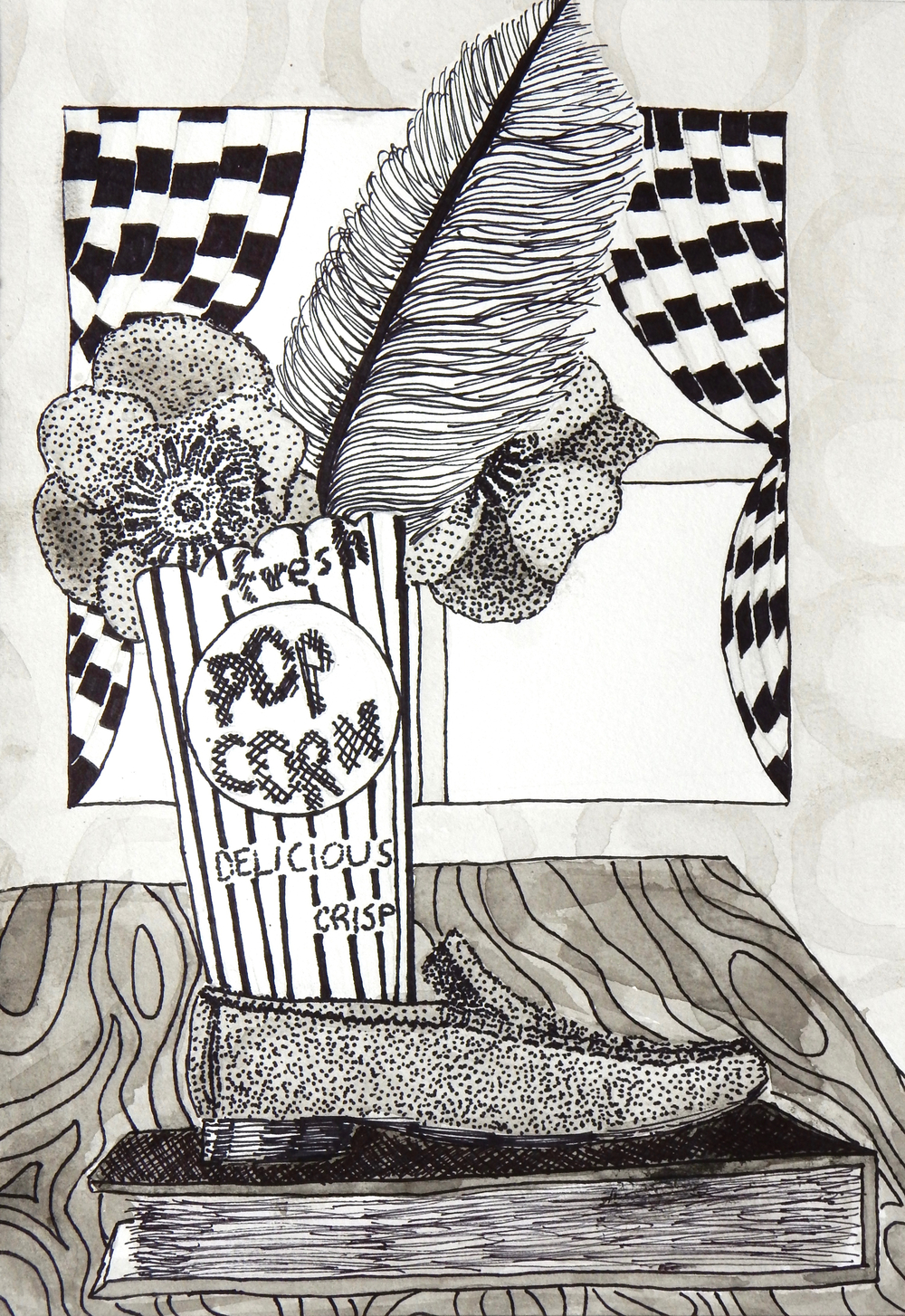 Jennifer Burkinshaw.15yrs.pen&ink