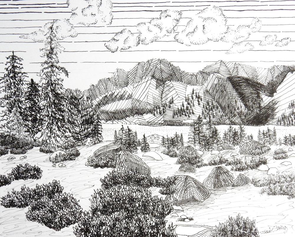 Isabelle Stanley.17yrs.pen&ink