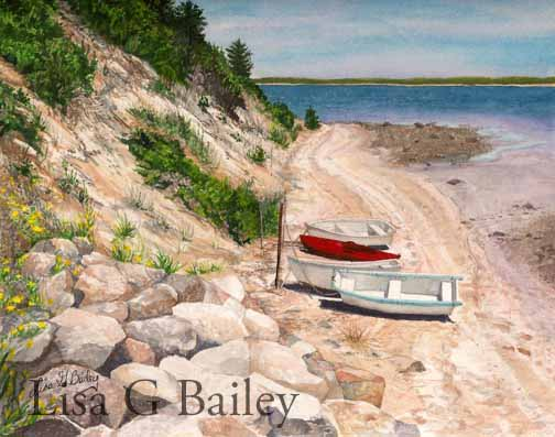 Lisa G Bailey.Chatham.watercolor.$750.00