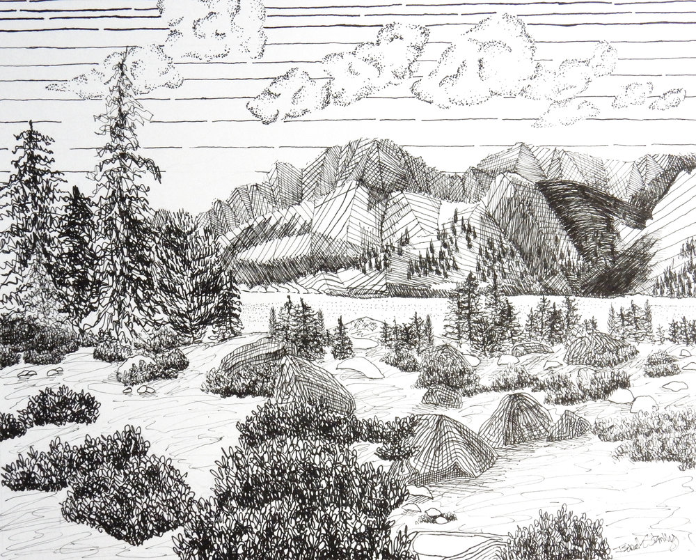 Isabelle Stanley.Landscape.pen & ink