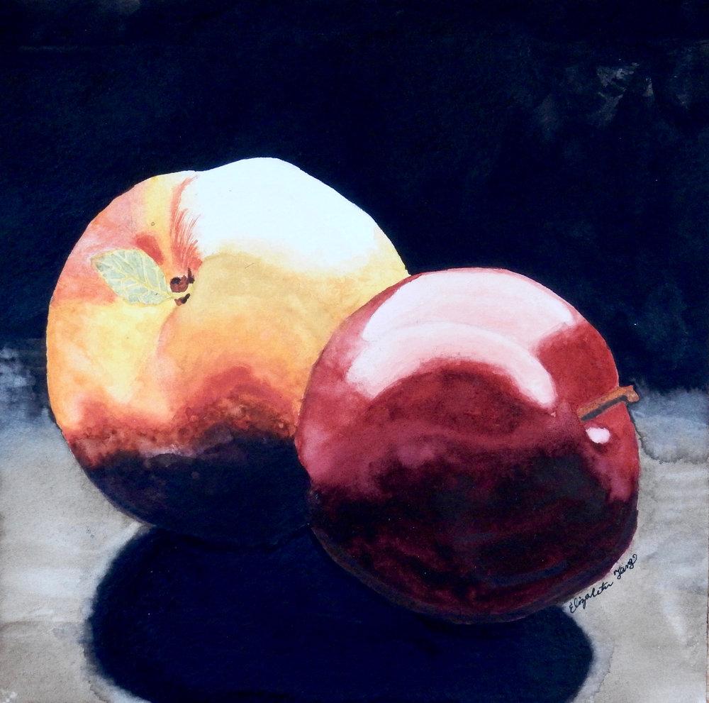 Elizabeth Tang.Fuits.watercolor