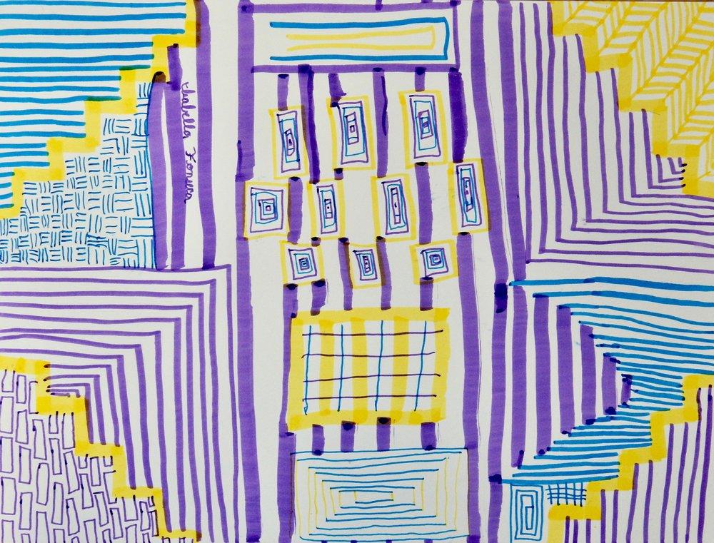 Isabella Fonseca.10yrs.markers