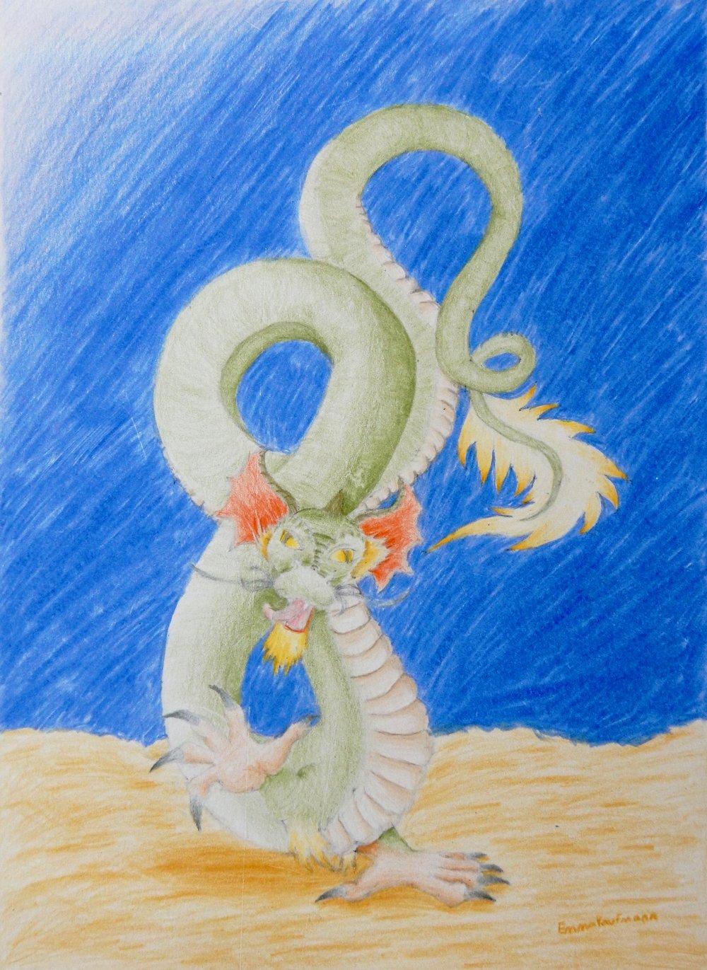Emma Kaufmann.13yrs.Dragon.colored pencil