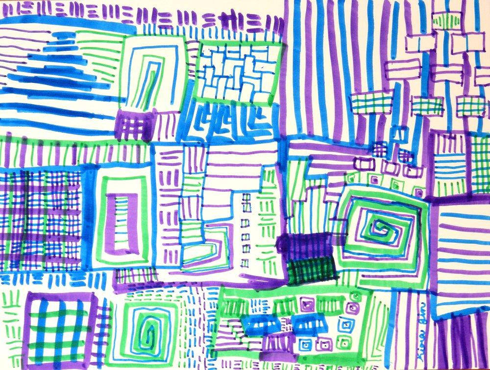 Kiara Jin.8 yrs.markers