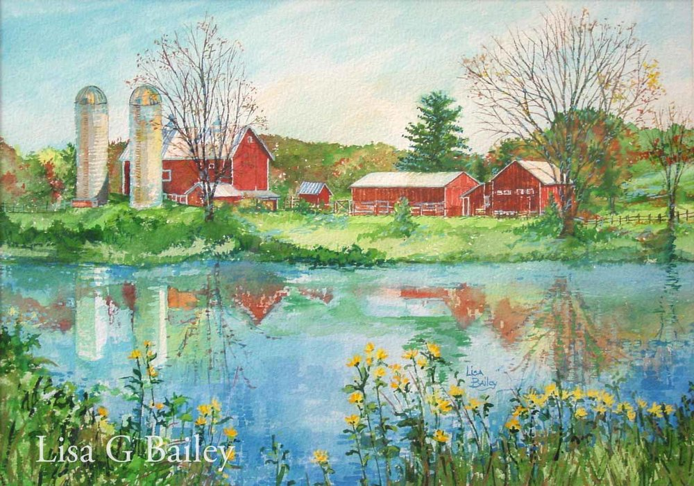 Lisa G Bailey.watercolor.Pure Michigan