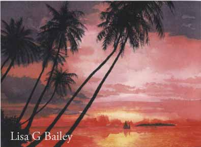 Lisa G Bailey.watercolor.Hawaii