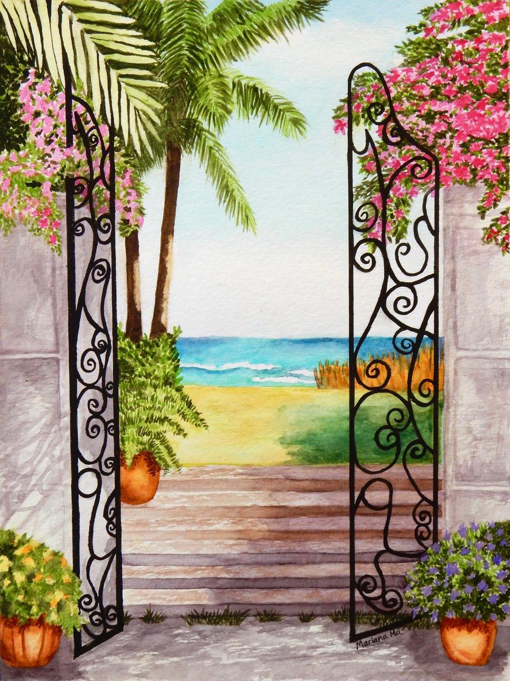 Mariana Ma.13 yrs.7th grade.watercolor.Gate