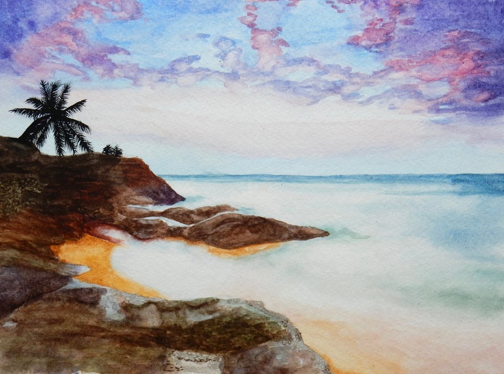 Emily Whalen.17yrs.watercolor