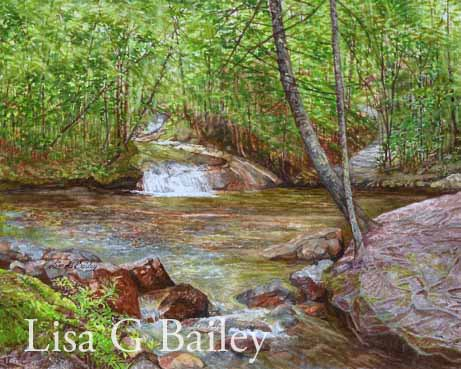 Lisa G Bailey. Natures Secret. watercolor. original. $550