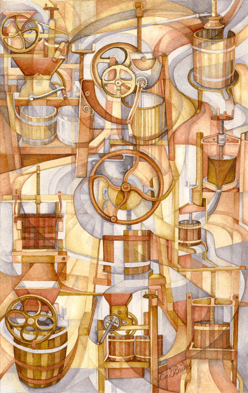 Lisa G Bailey. colorweave watercolor. 'Press On'. giclee print available in store for $150