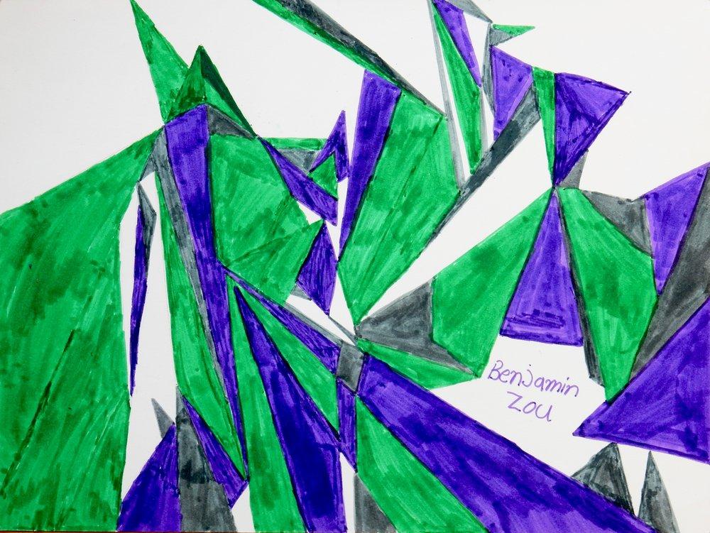 Benjamin Zou.10 yrs, markers