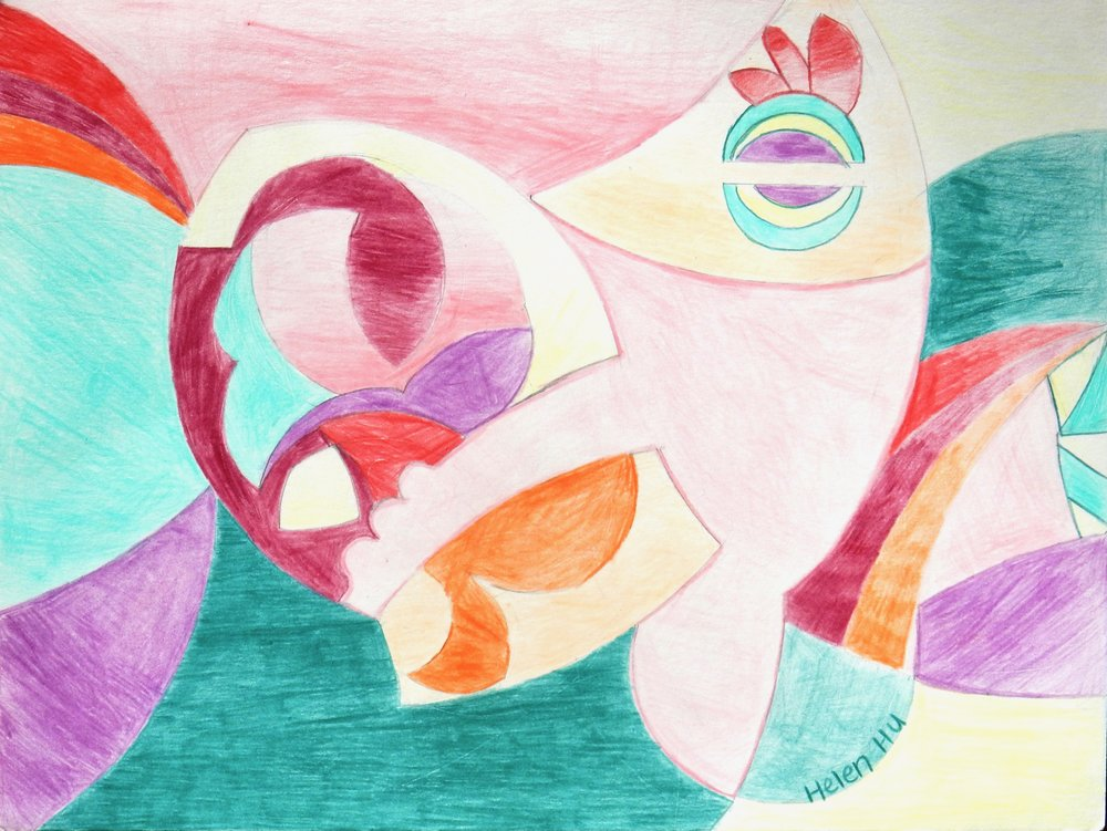 Helen Hu.9 yrs.colored pencil