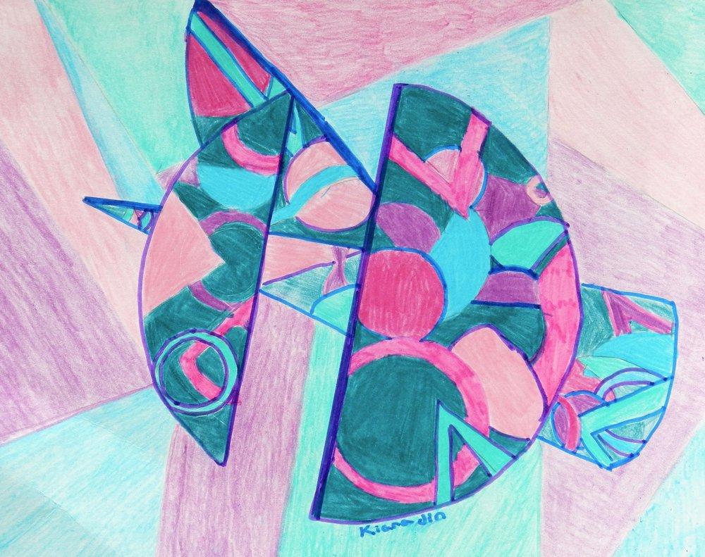 Kiara Jin.9 yrs old.mixed media -markers and colored pencil