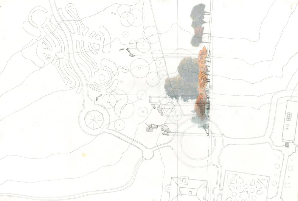 Contextplan and overlaid section of site