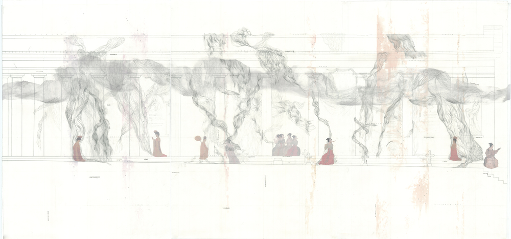 Section drawing, combined layer