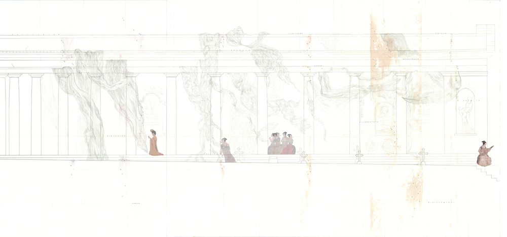 Section drawing, background layer