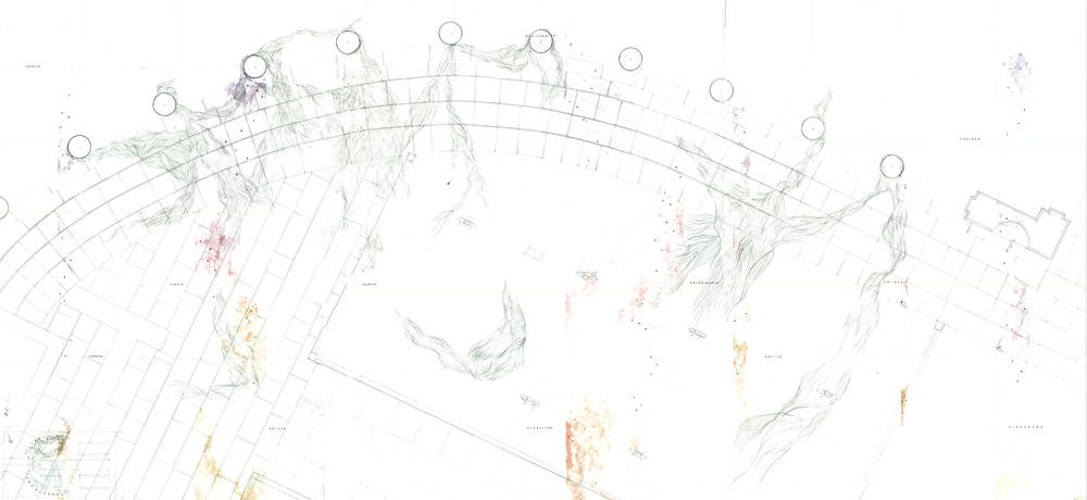 Plan drawing, background layer