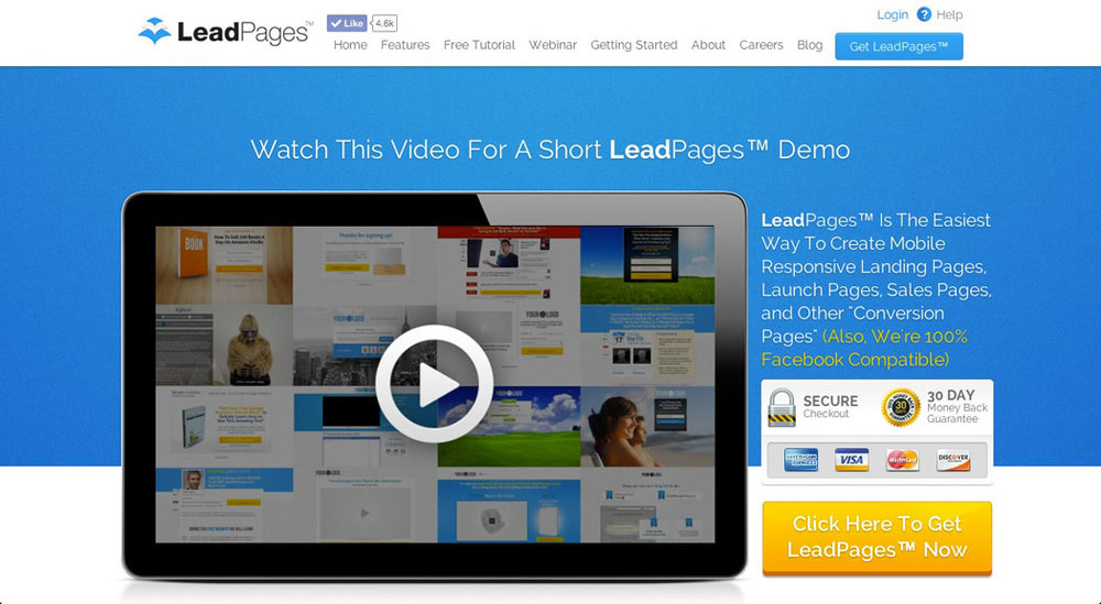 Landing Page Templates: LeadPages