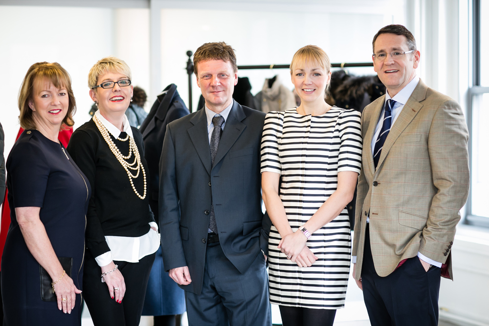 From left - CEO, Teresa Tideman, Group Brand Director, Amanda Lester, Buying and Commercial heads and Mark Aldridge far right