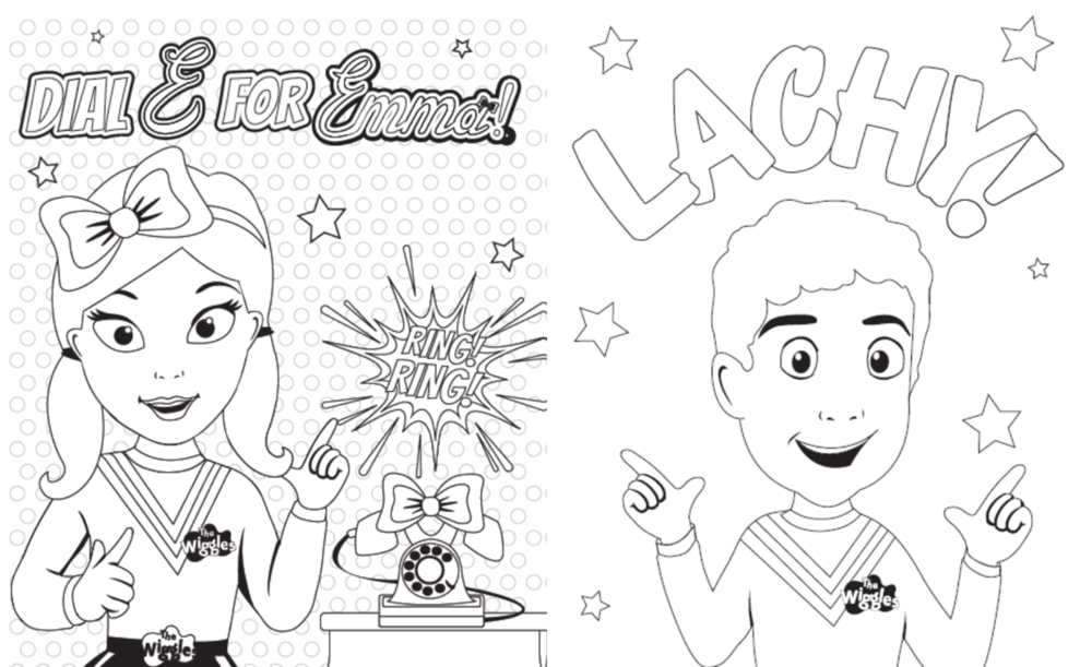 coloring pages of the wiggles photo28 - The Wiggles Colouring Pages