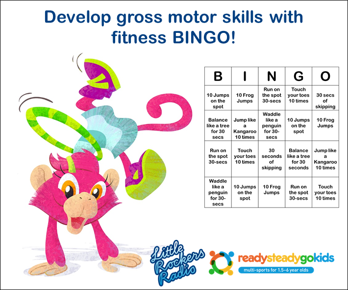 Fitness BINGO - Fun for kids - gross motor skills