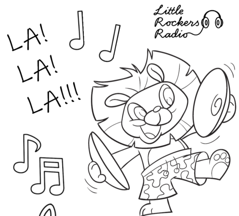 colour in and win with Little Rockers Radio