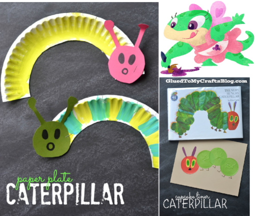 Creative activities - paper plate caterpillars