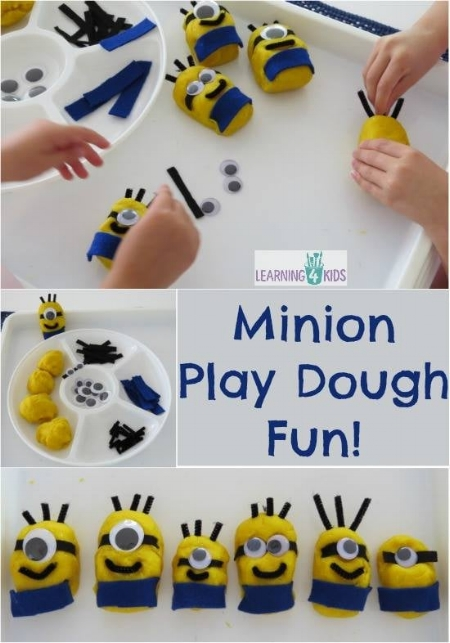 Kids Craft Activity - Minion Play Dough