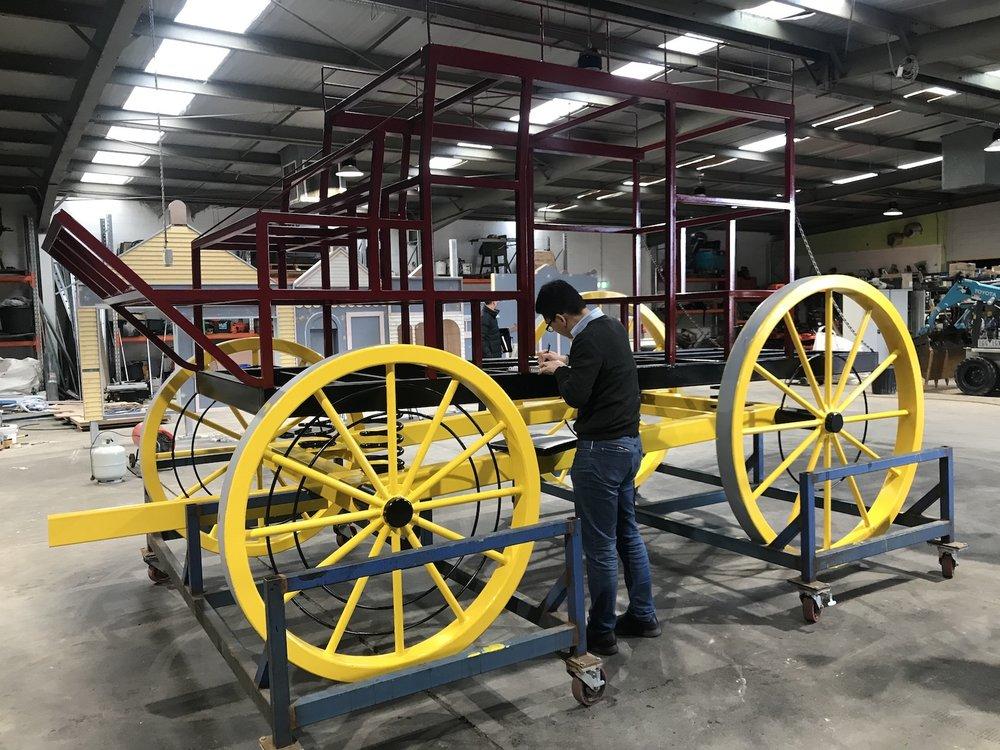 Soverign Hill - Cob & Co Coach under construction