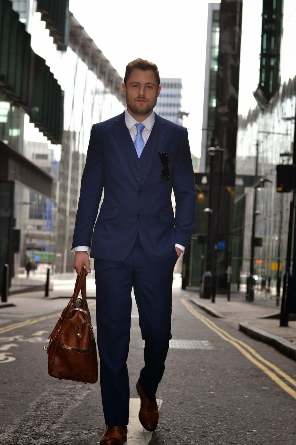 Ben from Twenty First Century Gent wears a super durable M&S suit