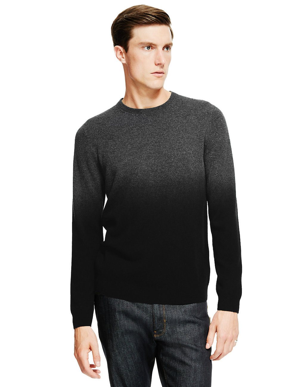 Marks & Spencer Autograph | Grey ombre jumper | Sam Squire UK Male fashion & Lifestyle blogger