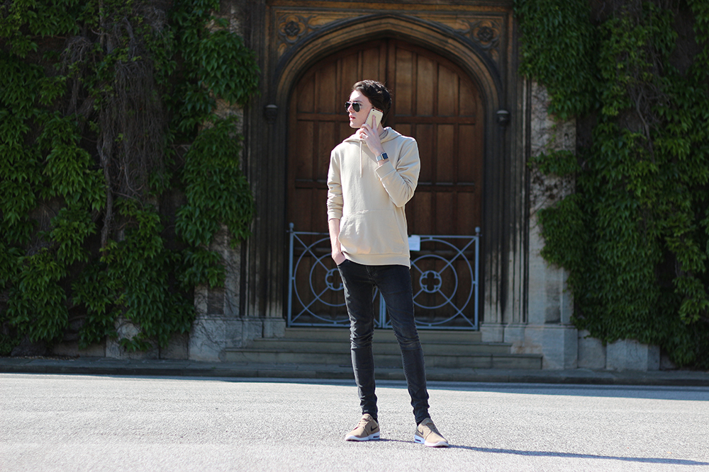 Topman Neutral hoodie | Neutral trend | Sam Squire UK Male fashion blogger