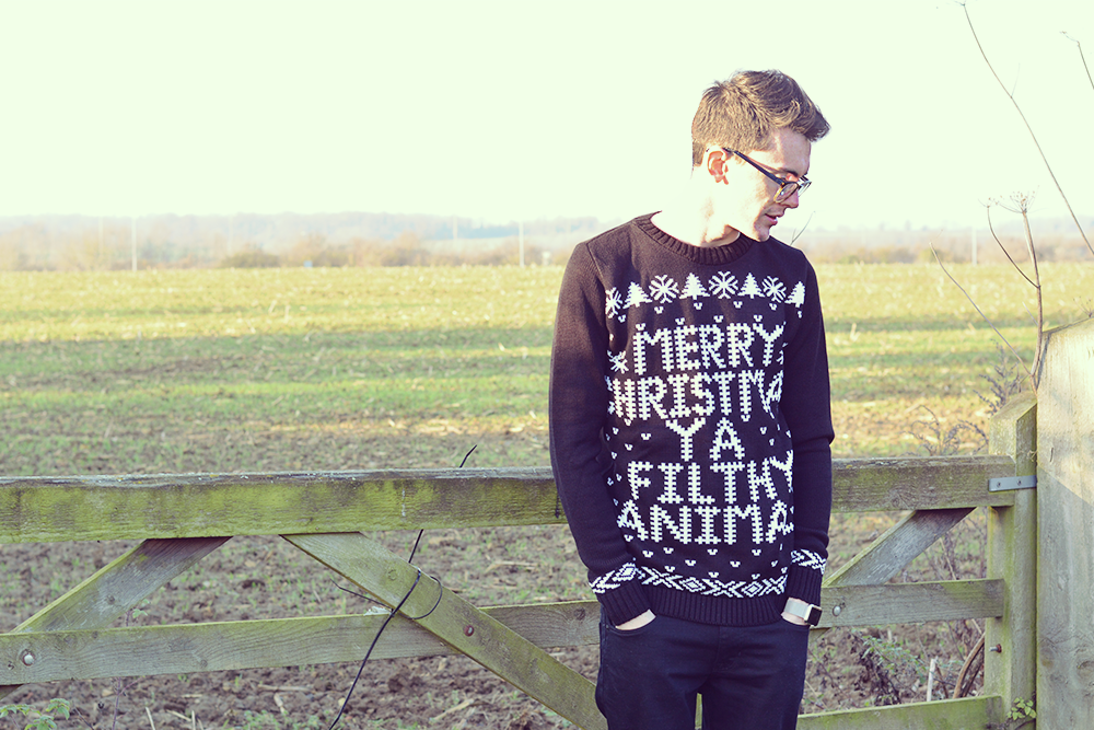 BoohooMAN christmas jumper | Sam Squire UK male fashion & lifestyle blogger