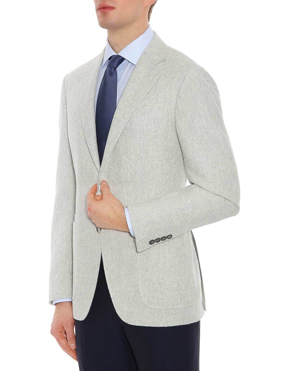 Look 1: Light Grey Kei Blazer -