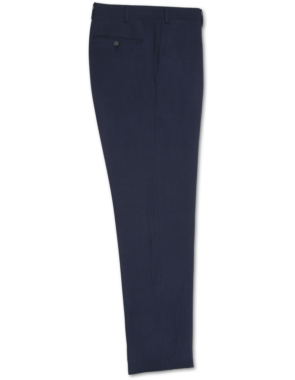 DARK BLUE LINEN AND SILK PANTS